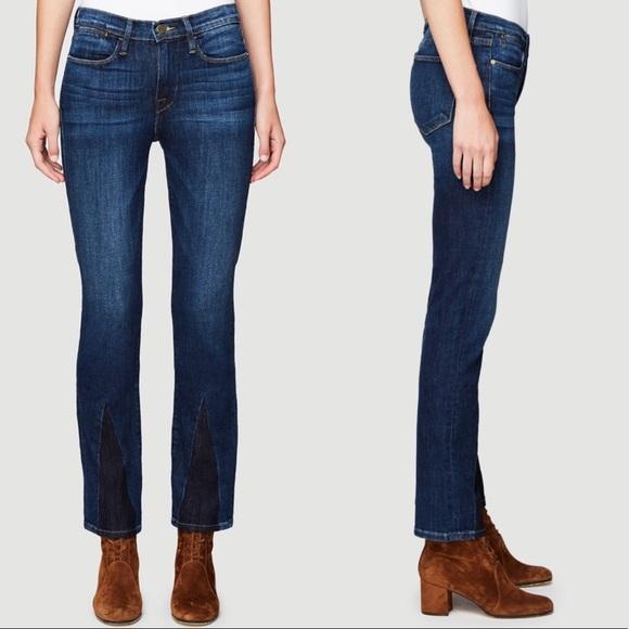 Frame Denim Jeans | Frame Le High Straight Gusset In Bay Wash | Poshmark